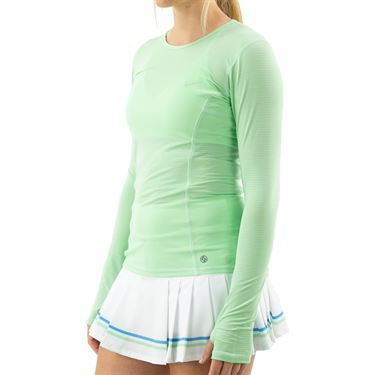 Lija Go With The Flow Interval Long Sleeve Top Womens Pistachio 20S 1670T4