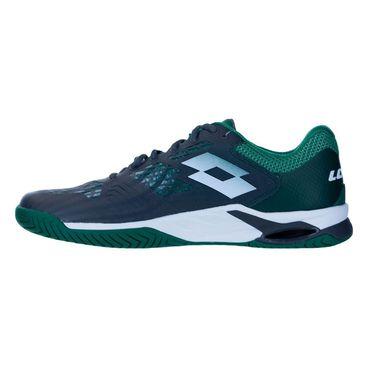 Lotto Mirage 100 Speed Mens Tennis Shoe Silver/Green/Asphalt 210732 5Z1