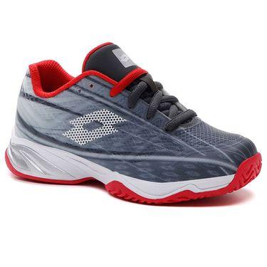 Lotto Mirage 300 ALR Junior Tennis Shoe - Asphalt/Red