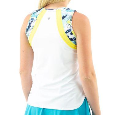 Lija You are My Sunshine Bea Tank Womens White/Net Graffiti/Sunshine 21A 1738T1