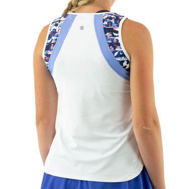 Lija She Who Dares Bea Tank Womens White/Cheetah Pop/Bluebird 21A 1740T2