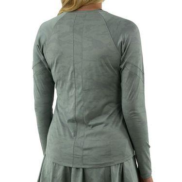 Lija Minty Fresh Terrain Long Sleeve Top Womens Iron 21A 1756T4