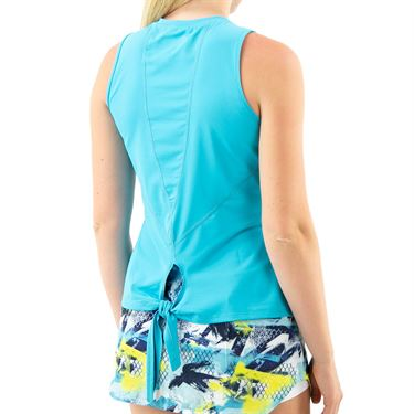 Lija You are My Sunshine Tie Back Tank Womens Turquoise 21A 1769T1
