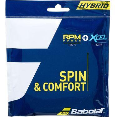 Babolat RPM Power 17G + XCEL 16G Hybrid Tennis String