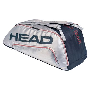 Head Tour Team Supercombi 9 Pack Tennis Bag - Navy/Silver