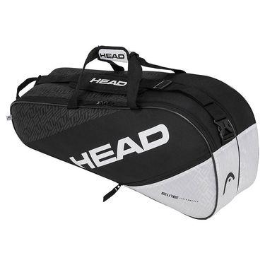 Head Elite Combi 6 Pack Tennis Bag - Black/White