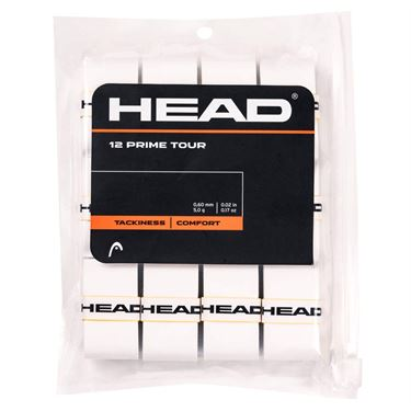 Head Prime Tour Overgrip - White 12 Pack