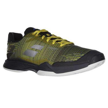 Babolat Jet Mach II Clay Mens Tennis Shoe (RUNS SMALL - SIZE UP 1/2 SIZE)- Dark Yellow/Black