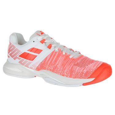 Babolat Propulse Blast All Court Womens Tennis Shoe - White/Fluo Strike