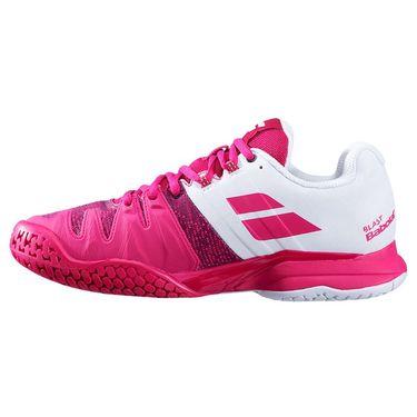 Babolat Propulse Blast All Court Womens Tennis Shoe White/Vivacious Red 31S20447 1028