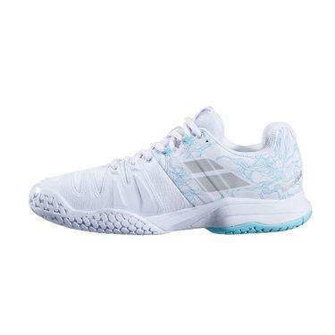 Babolat Propulse Blast All Court Womens Tennis Shoe White/Blue Stream 31S20447 1039