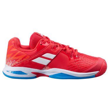 Babolat Junior Propulse All Court Tennis Shoe Cherry Tomato White 32F21478 5050