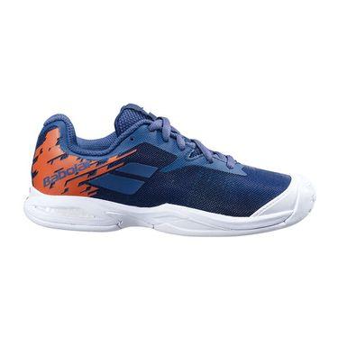 Babolat Junior Jet All Court Tennis Shoe White/Pureed Pumpkin 32S20648 1035