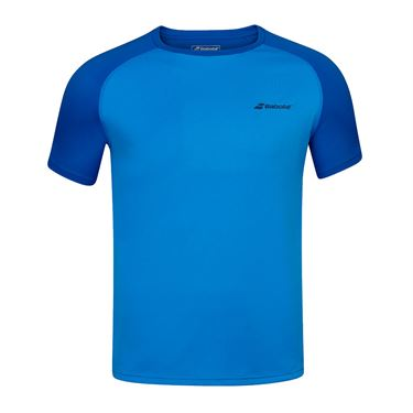 Babolat Play Boys Crew Neck Tee Shirt Blue Aster 3BP1011 4049
