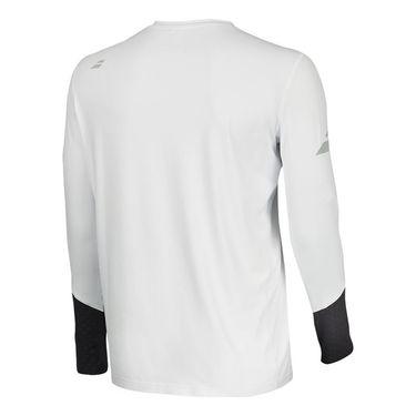 Babolat Core Long Sleeve Crew - White/Rabbit