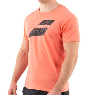 Babolat Exercise Big Flag Tee Mens Living Coral Heather 4MS21442 6012