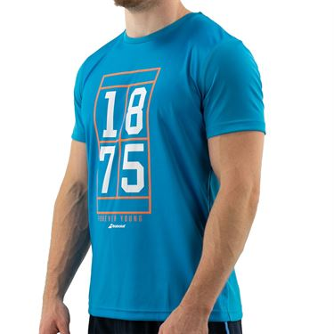 Babolat Exercise Graphic Tee Mens Caneel Bay 4MTB017 4080