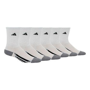 adidas Kids Vertical Stripe Crew Sock (6 Pack) - White/Black/Light Onix