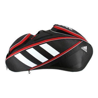 adidas Tour Tennis 12 Pack Tennis Bag - Black/White/Scarlet