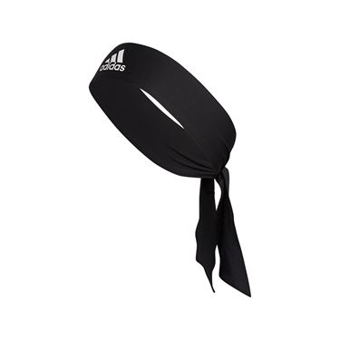 adidas Alphaskin Tie Headband - Black/White