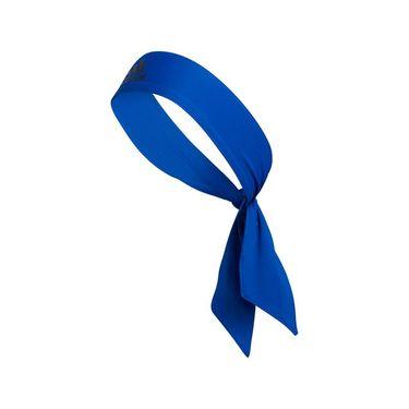 adidas Alphaskin Tie Headband - Blue/Black