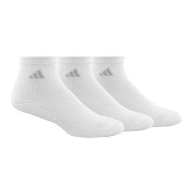 adidas Cushioned II 3 Pack Womens Quarter Sock - White/Clear Onix