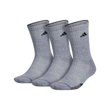 adidas Cushioned II 3 Pack Crew Sock - Grey Heather, Black