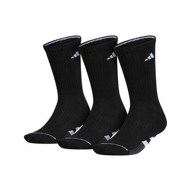 adidas Cushioned II 3 Pack Crew Sock - Black/White/Onix Marl