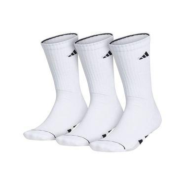 adidas Cushioned II 3 Pack Crew Sock - White/Black/Clear Onix Marl