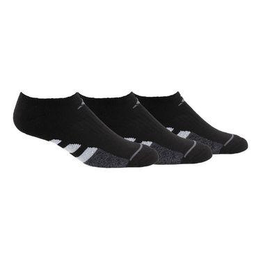 adidas Cushioned II Womens No Show (3 Pack) - Black/Onix/Onix Marl