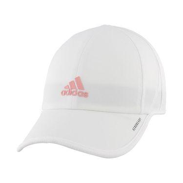 adidas Kids Superlite Hat - White/Glory Pink