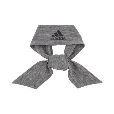 adidas Alphaskin Plus Tie Headband - Grey/Black