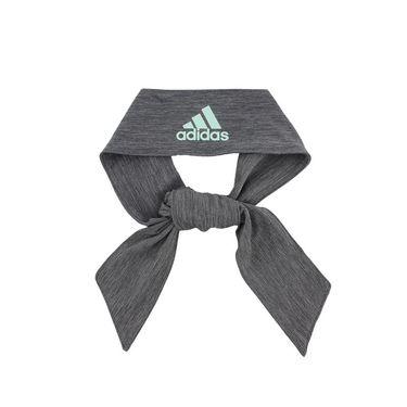 adidas Alphaskin Plus Tie Headband - Heather Grey/Clear Mint