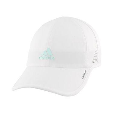 adidas Kids Superlite 2 Hat - White/Halo Mint Green