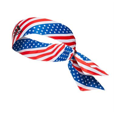 adidas Alphaskin Americana Tie Headband - Red/White/Blue