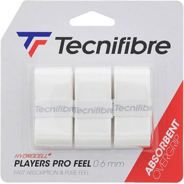 Tecnifibre Players Pro Feel Overgrip 3 Pack - White