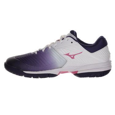 Mizuno Wave Exceed Tour 3 Womens Tennis Shoe - White/Purple/Pink