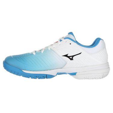 Mizuno Wave Exceed Tour 3 Womens Tennis Shoe - White/Aqua