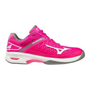 Mizuno Wave Exceed Tour 4 Womens Tennis Shoe Bright Pink/White 550021 1D00