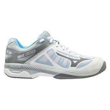 Mizuno Wave Exceed SL Womens Tennis Shoe White/Grey 550024 0091