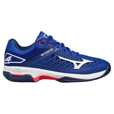 Mizuno Wave Exceed Tour 4 AC Womens Tennis Shoe Blue/White 550026 5000