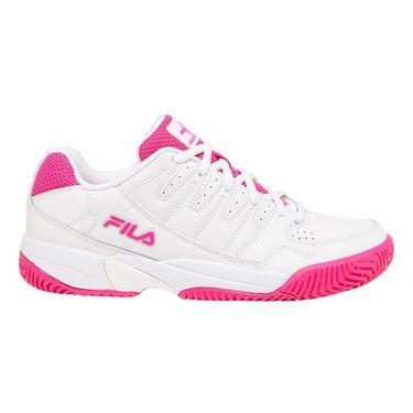 Fila Double Bounce Womens Tennis Shoe White/Pink 5PM00001 156