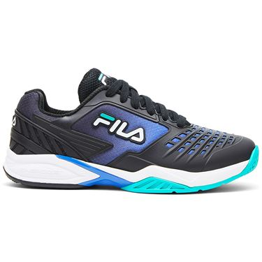 Fila Axilus 2 Energized Womens Tennis Shoe Black/Blue/Turquoise 5TM01162 048