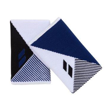 Babolat Reversible Jumbo Wristband - White/Estate Blue