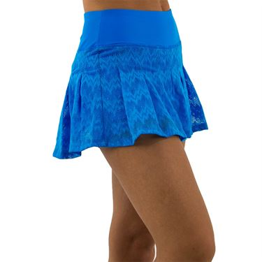 BPassionit Coming Up Daisies Pleated Skirt Womens Brite Turquoise 616012 BTU