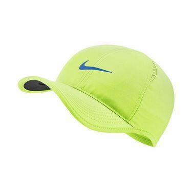 Nike Featherlight Hat - Light Lemon Twist/Black/Signal Blue