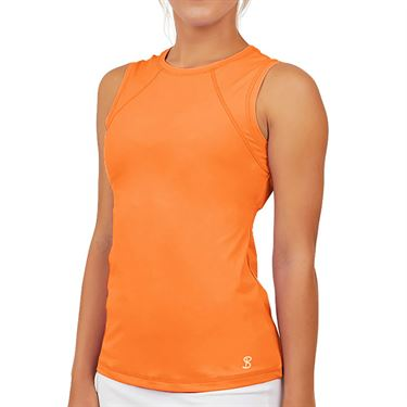 Sofibella UV Colors Sleeveless Top Plus Size Womens Nectarine 7003 NECP