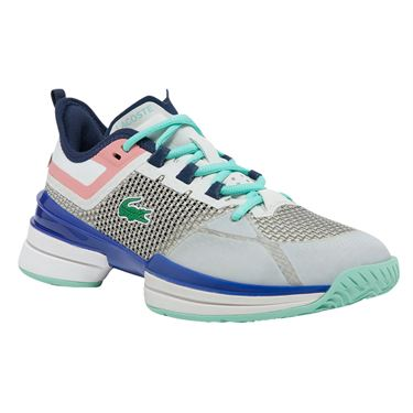 Lacoste AG LT 21 Ultra Womens Tennis Shoe Off White/Blue 741SFA0066 2Q9