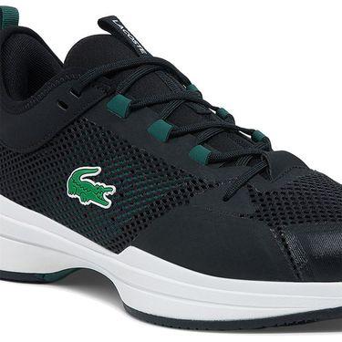 Lacoste AG LT 21 Mens Tennis Shoe Black/Green 742SMA0077 1R6