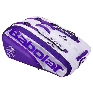Babolat Pure Wimbledon 12 Pack Tennis Bag - White/purple
